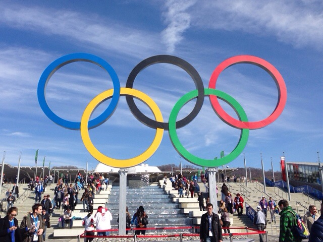 2014 Winter Olympics Sochi Olympic Rings entrance