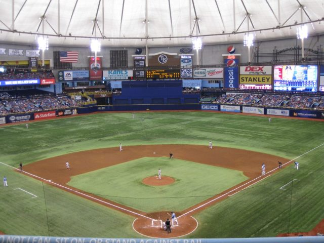 Tropicana Field Tampa sports travel