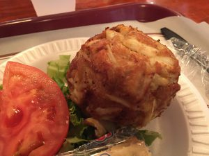 Crab cake from Faidley's Seafood