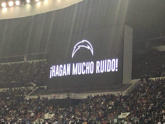 Estadio Azteca scoreboard