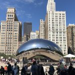 Chicago Cloud Gate sculpture Grant Park