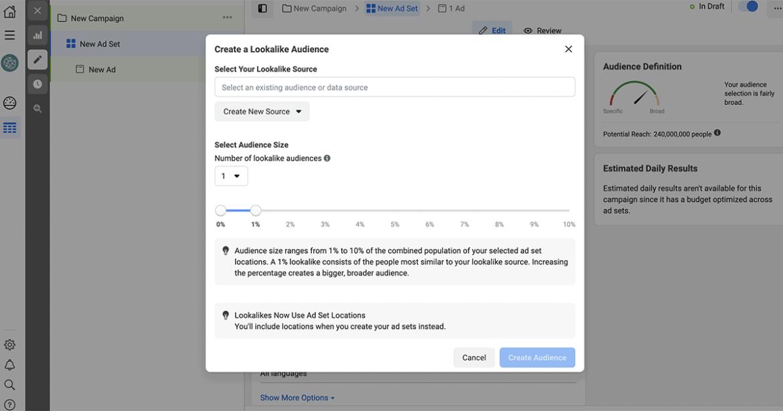 Facebook Lookalike Audiences