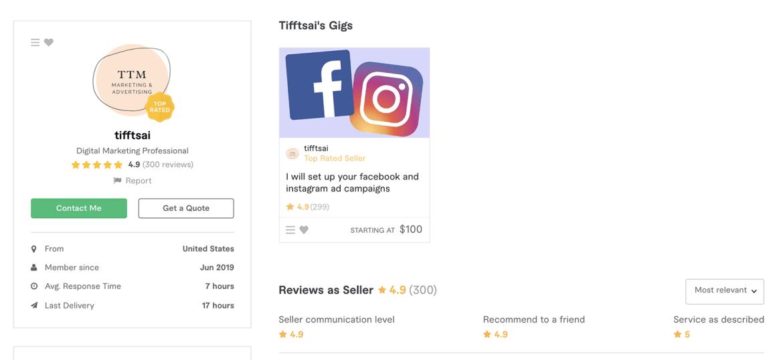 Fiverr Facebook Ads expert – TiffTsai