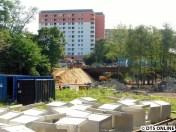 An der Legienbrücke wurde eine Baustellenzufahrt geschaffen.
