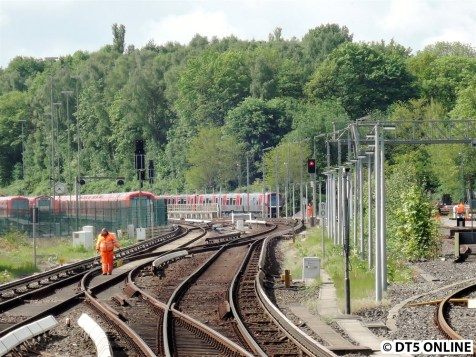 Der Zug steht bereits auf dem Lagerbahnhof Ohlsdorf