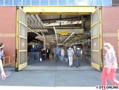 Eingang in die Bus-Werkstatt