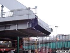 Detail: Hier wird die Brücke ihren Anschluss an das Widerlager bekommen