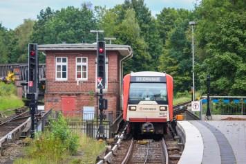 Noch einmal die Einfahrt, Richtung Volksdorf fuhr stets ein Mitarbeiter der Betriebslenkung.