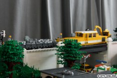 Floating Bricks - U-Bahn-Modell