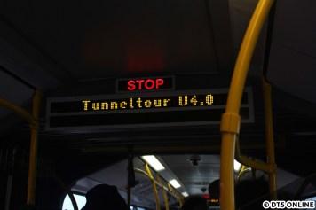 Der Shuttlebus war passend beschildert...