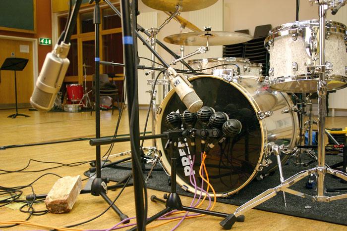 kick snare recording techniques