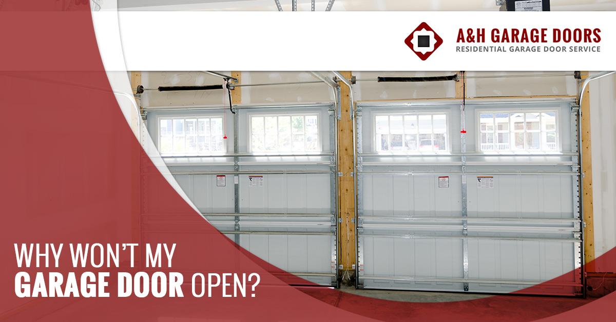 Garage Doors Bentonville Reasons Your Garage Door Wont Open