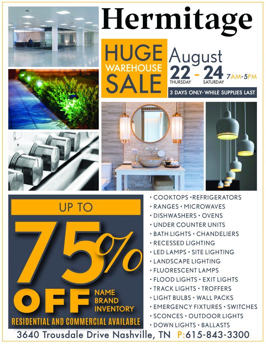 huge warehouse sale hermitage lighting
