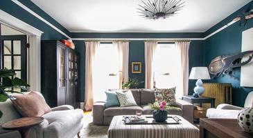family room lighting design and
