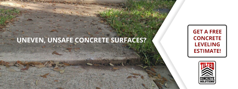 causes uneven concrete
