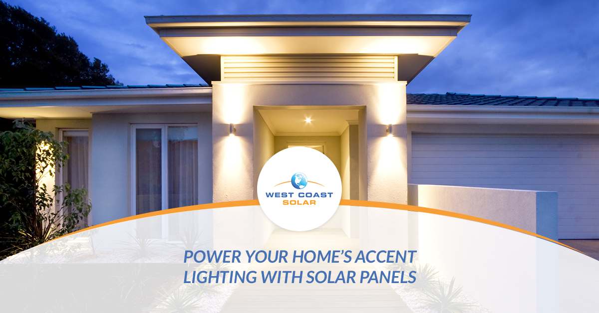power accent lighting with solar energy