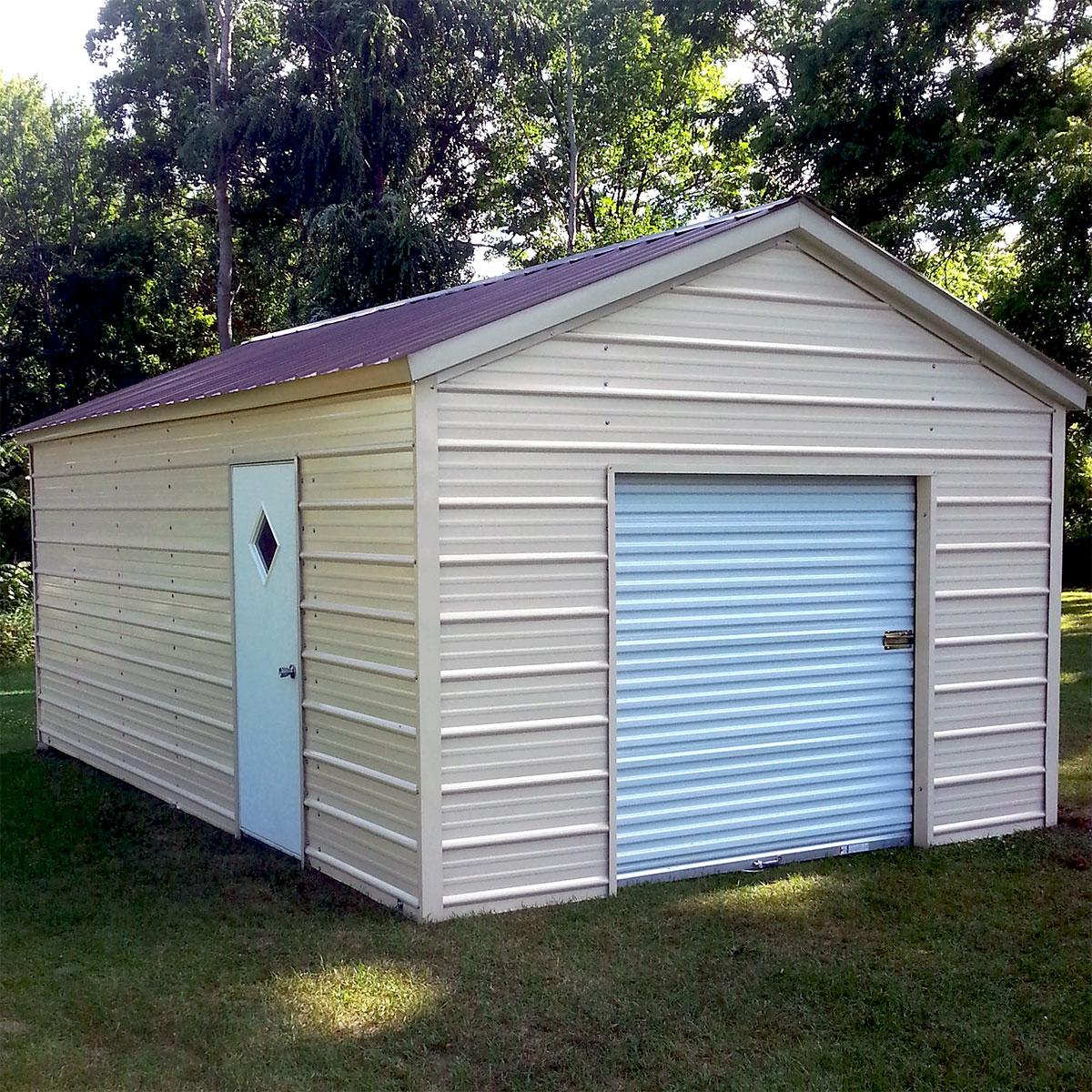 Enclosed Garage Customization Options  Wholesale Direct Carports