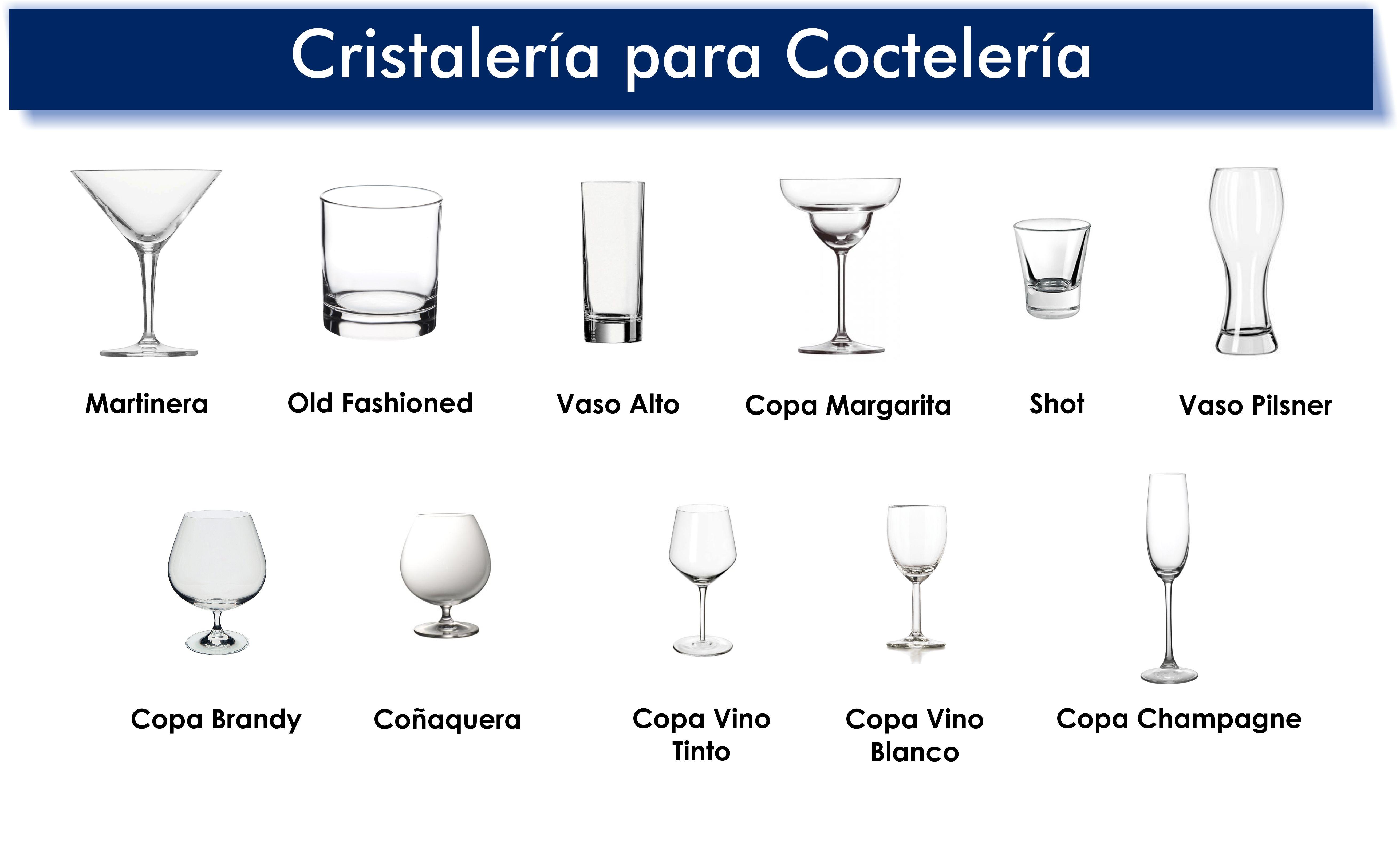 cristaleria para cocteleria