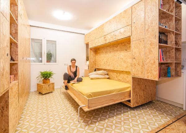 apartamento con muebles convertibles