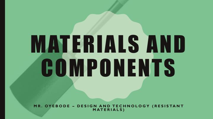 Manufacturing Processes and Materials and Components-page-001