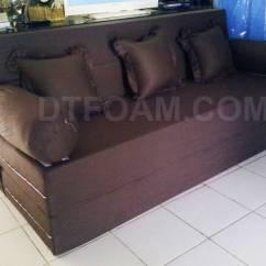 Harga Cover Sofa Bed Inoac Most Comfortable 2017 Minimalis Coklat Tua Polos Special Edition
