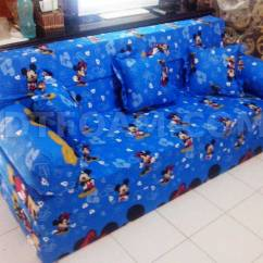 Sofa Bed Kasur Busa Lipat Inoac Jakarta Brown Leather Grey Carpet And Motif Mickey Mouse Biru