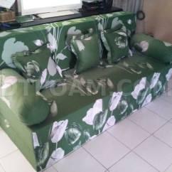 Harga Cover Sofa Bed Inoac Mid Century Modern Leather Batik Motif Bunga Teratai Dtfoam Com Tulip Hijau Bagus Empuk Murah