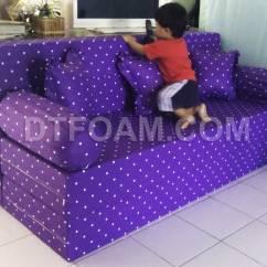 Harga Cover Sofa Bed Inoac How To Make A No Sew Ungu Polkadot  Nyaman Digunakan Dtfoam Com