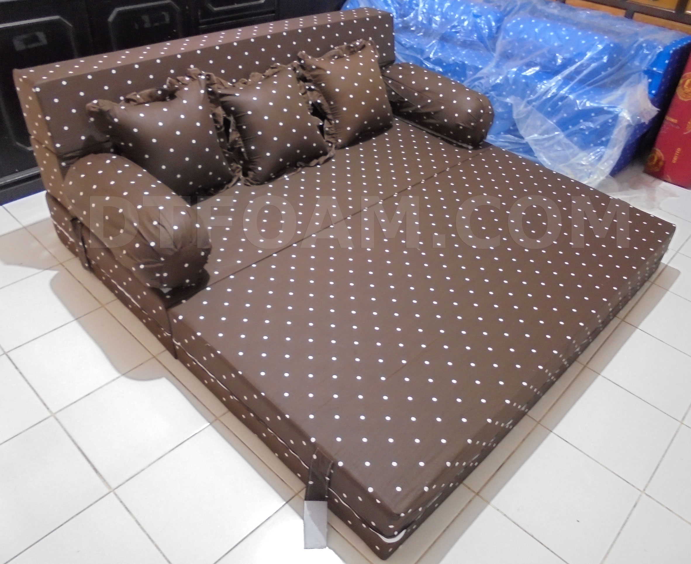 harga cover sofa bed inoac modern sectional sofas sacramento dottie coklat dtfoam com