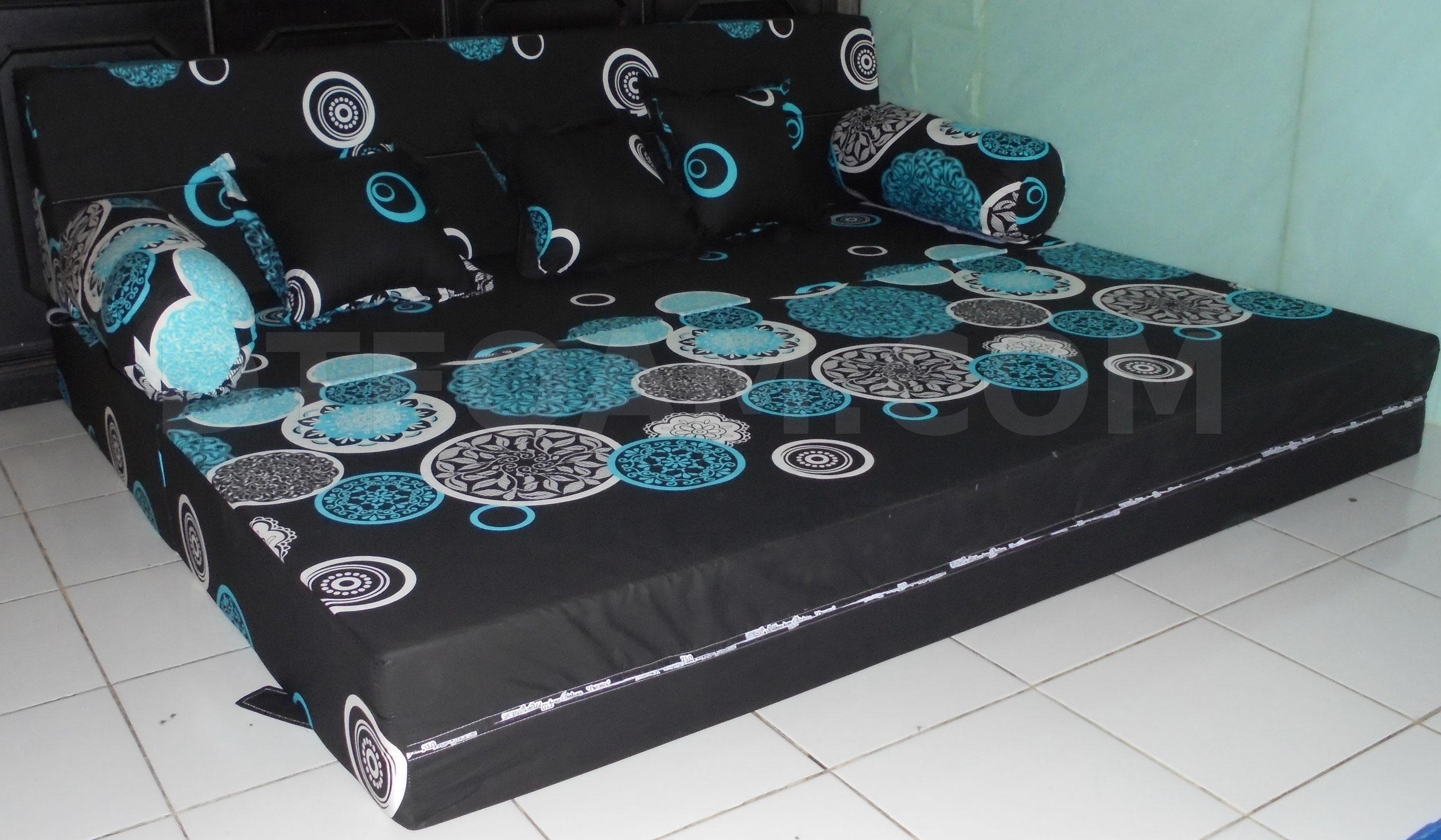 sofa bed kasur busa lipat inoac jakarta bamboo set singapore full moon hitam pelengkap furniture anda