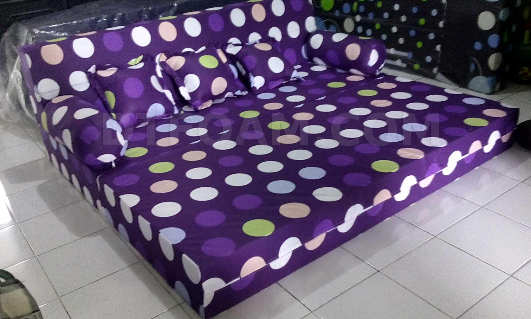 harga sofa bed inoac no 1 sleeper sectional microfiber polkadot ungu buble 3 dtfoam com