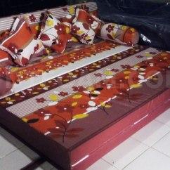 Harga Sofa Bed Inoac Cikarang Best Loveseat Kasur Autumn Lapis Merah Maroon2 Dtfoam Com