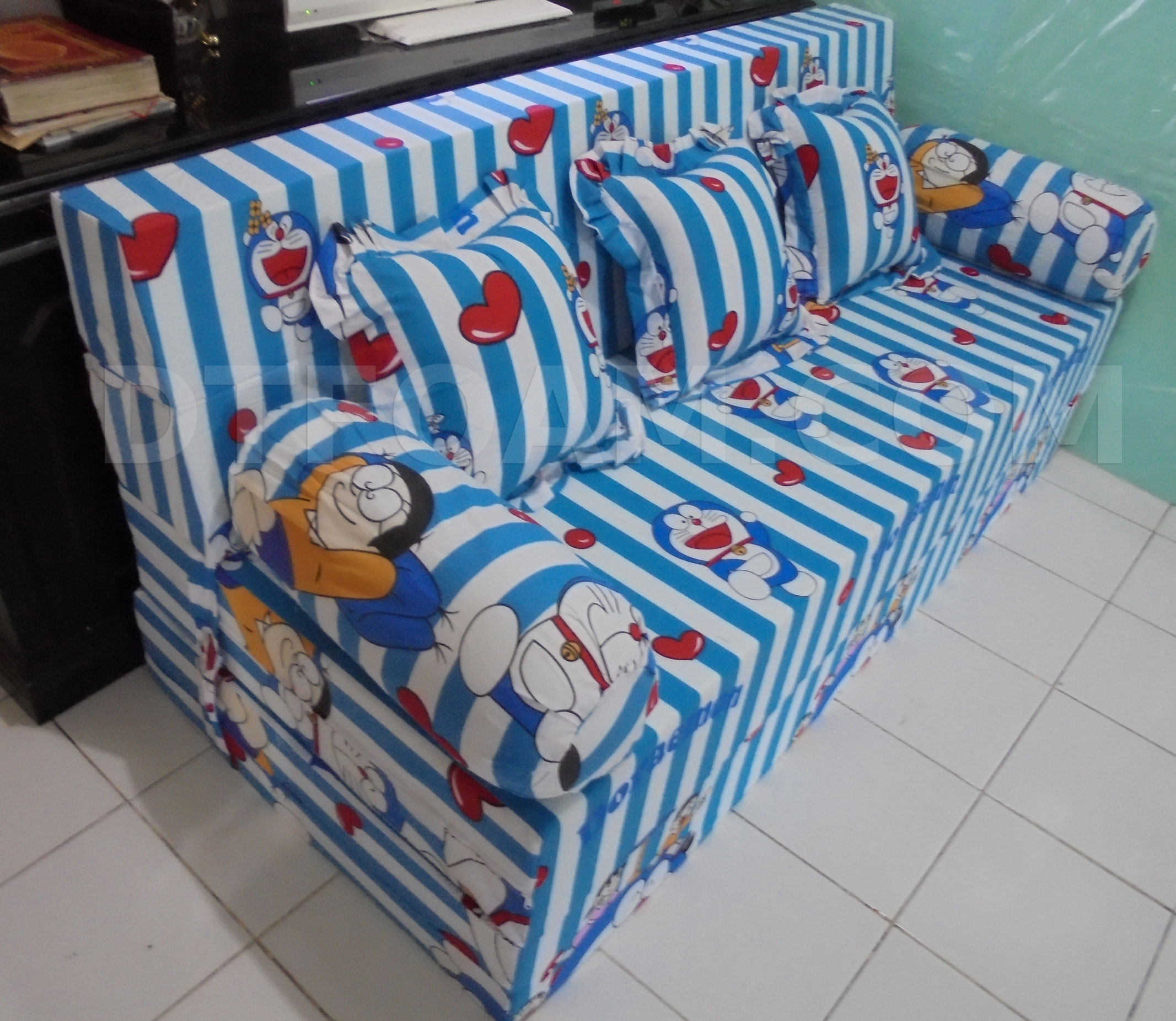 sofa bed kasur busa lipat inoac jakarta high point factory florence south carolina jual baci living room