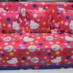 Harga Cover Sofa Bed Inoac What Makes A Good Hello Kitty Pink Biru Buble 2 Dtfoam Com