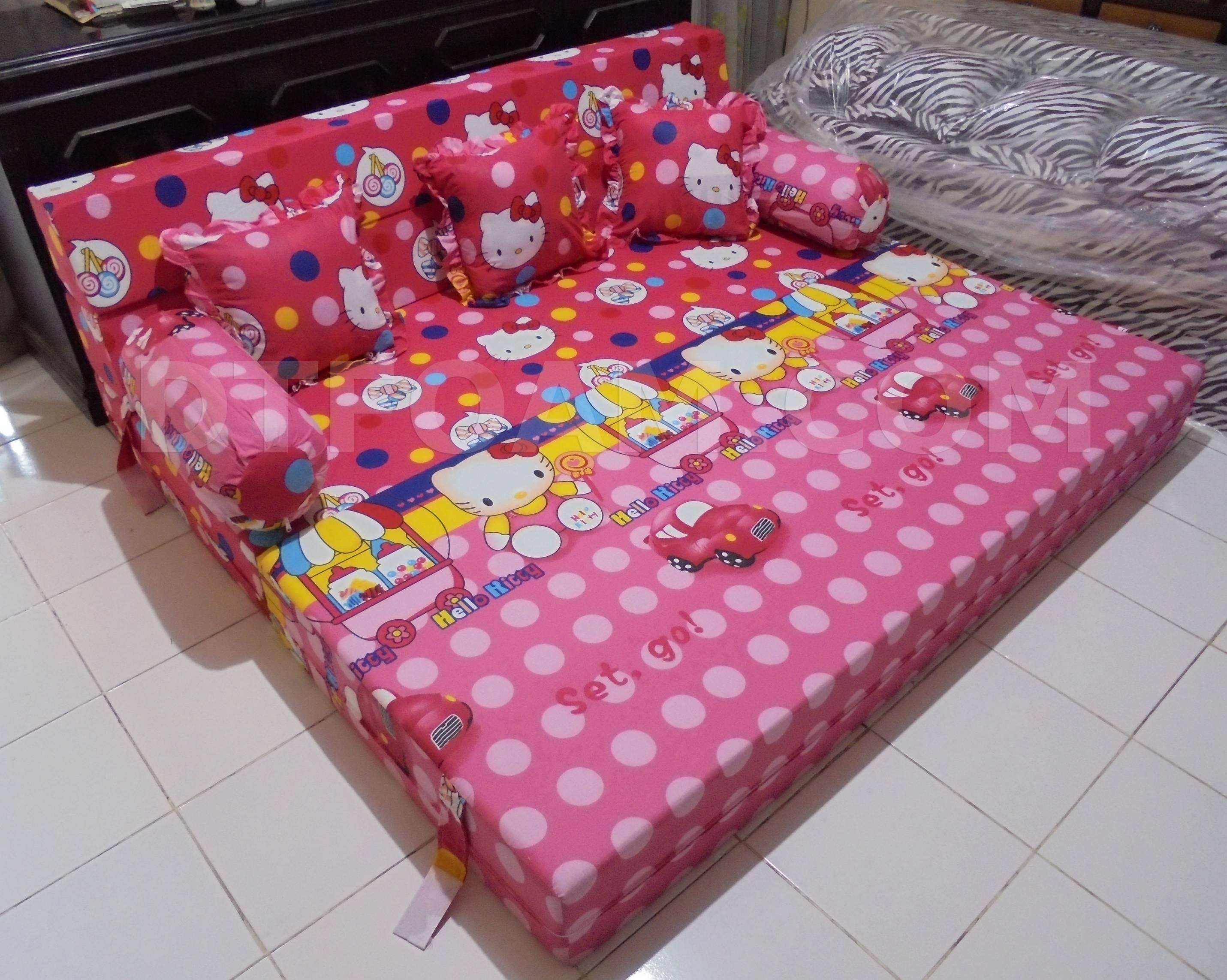 harga cover sofa bed inoac protect cat scratcher hello kitty pink biru buble 3 dtfoam com