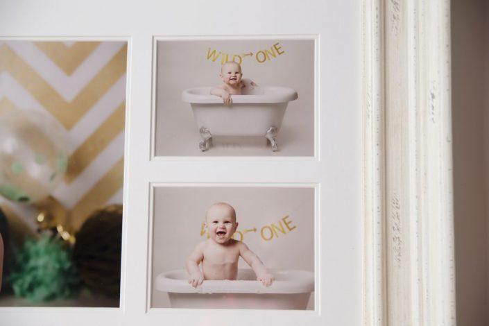 1st birthday cake smash glasgow - baby prints