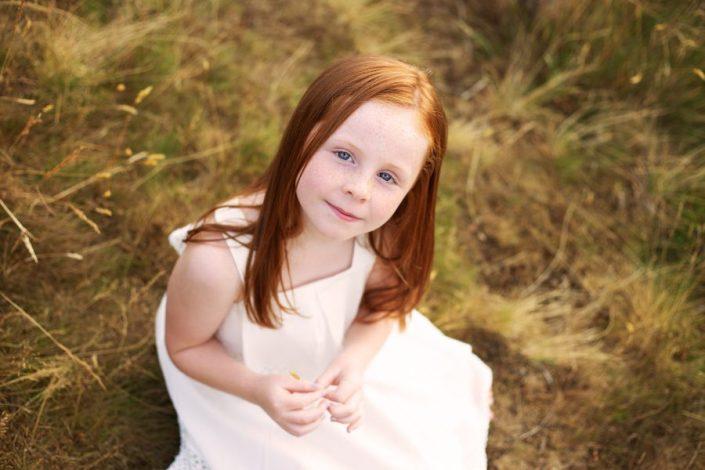 Family Photographer Glasgow - girl in white dress