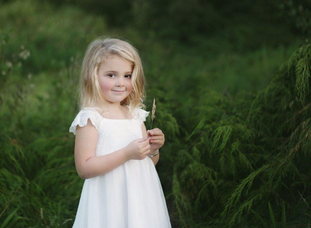 girl in white dress outdoors photo shoot glasgow