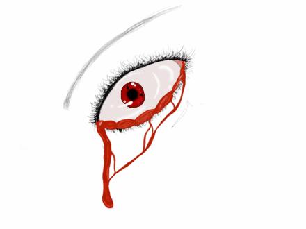 bleeding sharingan eye zoe