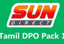 sun direct tamil dpo 1, channels, list, price, sun direct, dth, trai