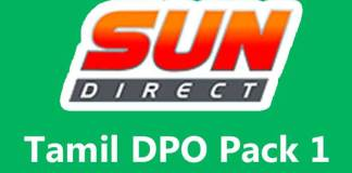 sun direct tamil dpo 1, channels, list, price, sun direct, dth, trai