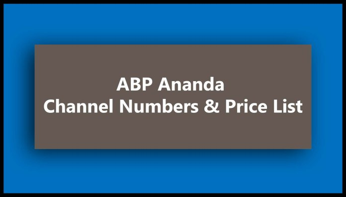 ABP Ananda Channel Numbers