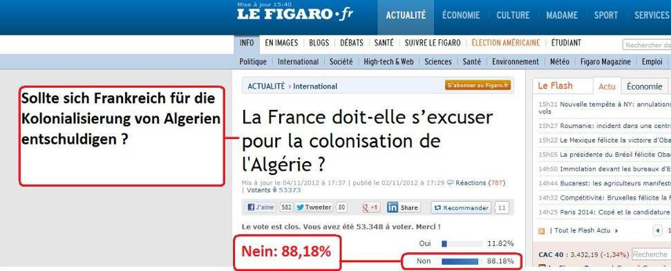 """""""Figaro""""-Leser: Algerier sollten sich für Fremdherrschaft """"bedanken"""""""