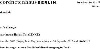 Berliner Senat zur Gülen-Bewegung: Nichts Neues