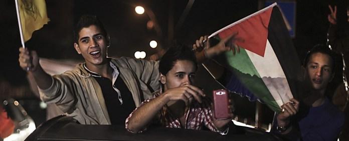 """""""Palästina, Palästina"""" – Freudenfeiern in Westbank und Gaza"""