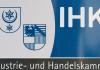 Das Logo der Industrie- und Handelskammer Halle-Dessau (IHK) in Halle (Saale).