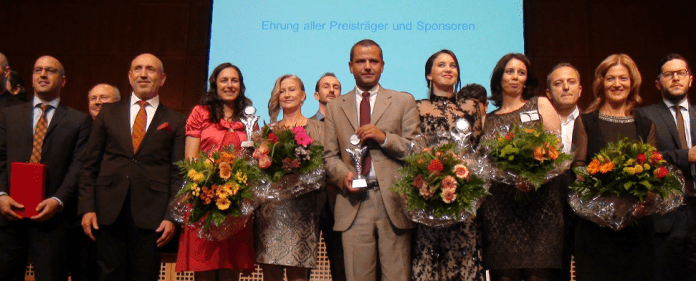 Die Ehrung der Plattino Preisträger - Sebastian Edathy - Karsu Dönmez