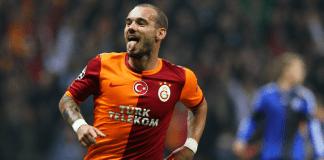 Sneijder im Fußballspiel gegen Kopenhagen in der Champions-Leauge