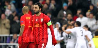 Selcuk Inan und Melo im Vordergrund. Hinten feiern die Real Madrid Spieler das Tor - zaman