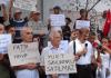 Protestierende des Bauprojektes Halicport - dha